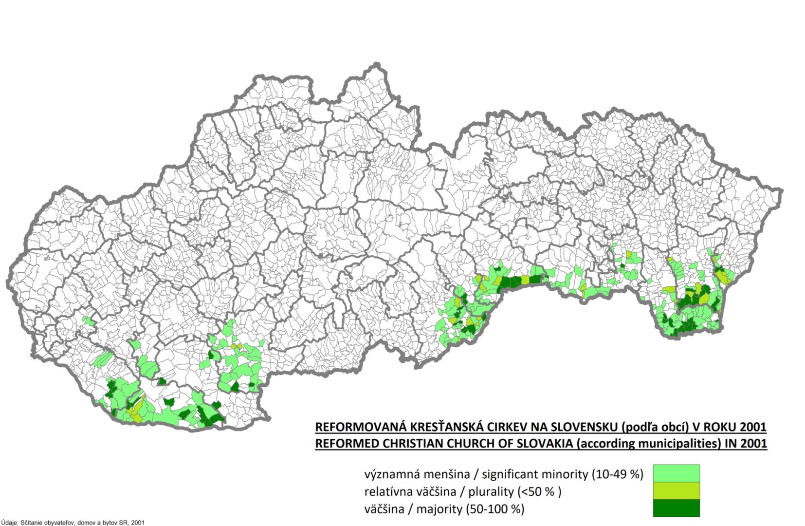Náboženské zloženie obcí Slovenskej republiky v roku 2011