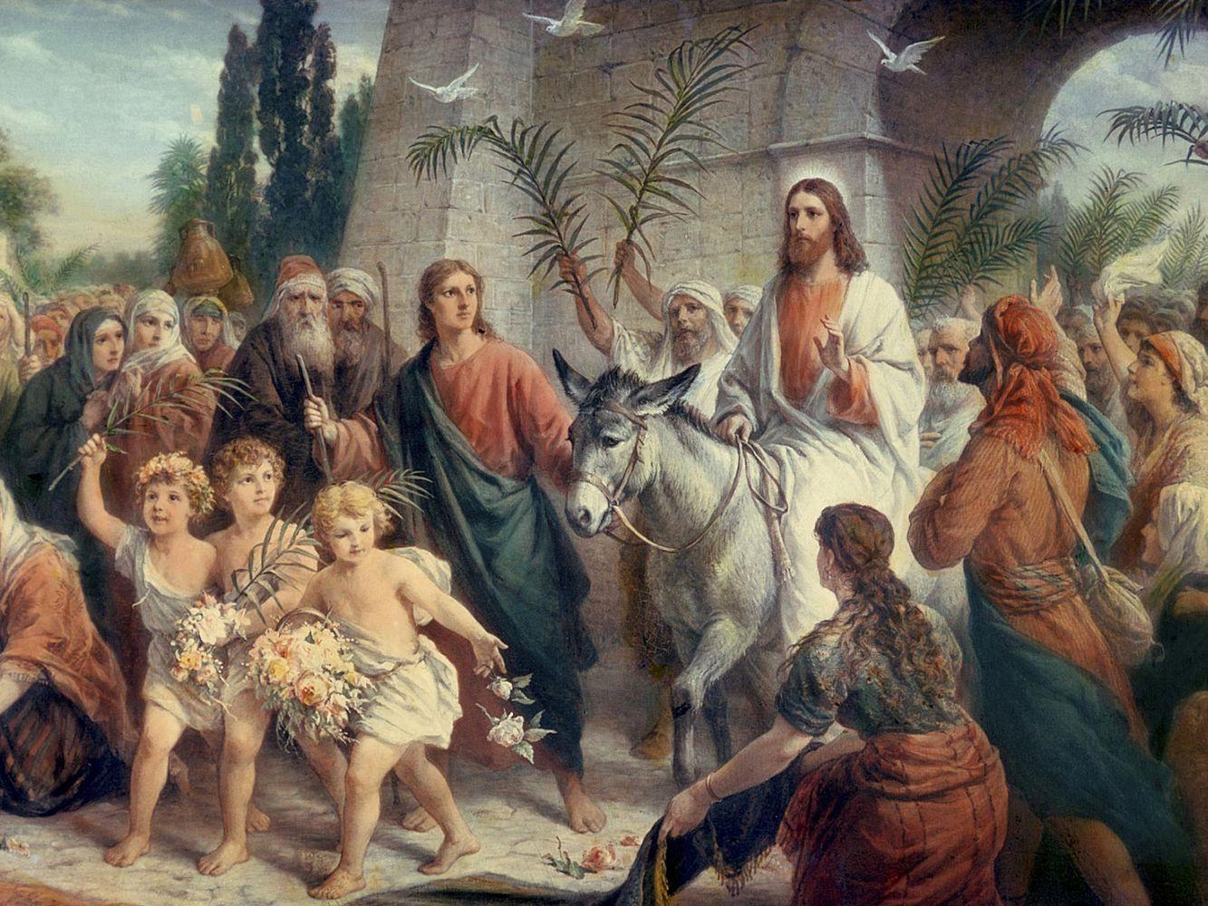 Kvetná nedeľa - svätíme na pamiatku slávnostného príchodu Pána Ježiša Krista do Jeruzalema